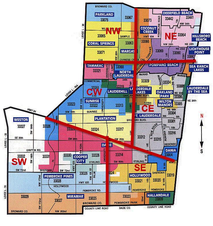 Fort Lauderdale Zip Code Map | Sustrainability